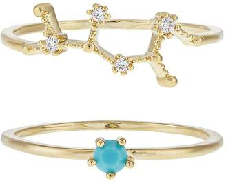Accessorize December Birthstone Stacking Ring Set