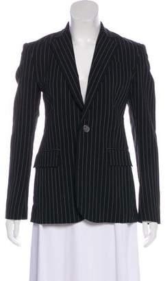Ralph Lauren Black Label Silk Pinstripe Blazer