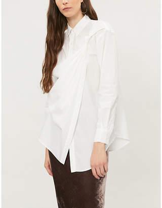 Chalayan Draped-panel cotton shirt