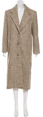 Christian Dior Herringbone Long Coat