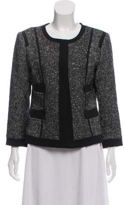 Narciso Rodriguez Tweed Collarless Jacket