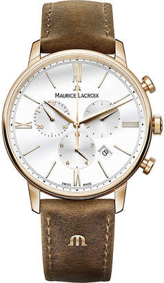Maurice Lacroix EL1098-PVP01-113-1 Eliros yellow gold chronograph watch