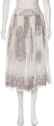 Miu Miu Printed Midi Skirt
