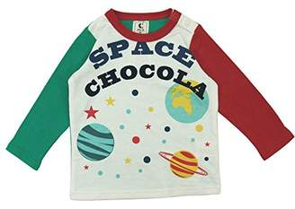 ChocolA (ショコラ) - 【春物】 chocola(ショコラ) ガーゼ天竺SPACE長袖Tシャツ 80cm /グリーン系 NO.CH-1621-16006