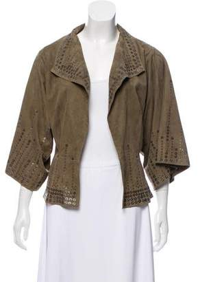 Amanda Wakeley Embellished Suede Jacket