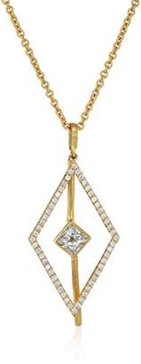 Nicole Miller Long Pave Kite Pyramid Pendant Necklace
