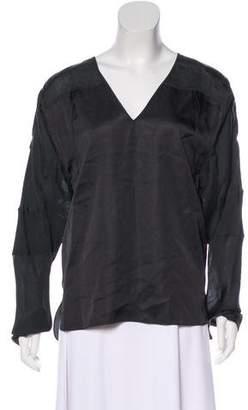 Reed Krakoff Silk Long Sleeve Top