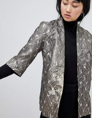 B.young Metallic Jacquard Jacket
