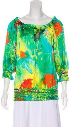 Ralph Lauren Black Label Silk Floral Top