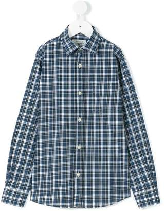 Hartford Kids checked shirt