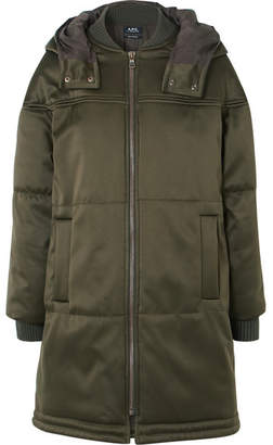 A.P.C. Ivy Quilted Shell Coat - Green