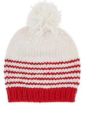 8f554fd827e Wommelsdorff Women s Rosie Striped Cashmere Beanie - Red