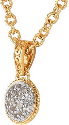 Alor Delatori by Delatori By 18K Over Silver 1.00 Ct. Tw. White Topaz Necklace