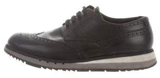 Prada Sport Leather Brogue Sneakers