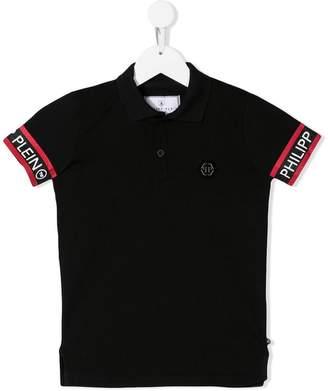 Philipp Plein Junior logo short-sleeve polo top