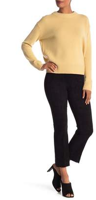 Vince Stretch Suede Leather Flare Pants