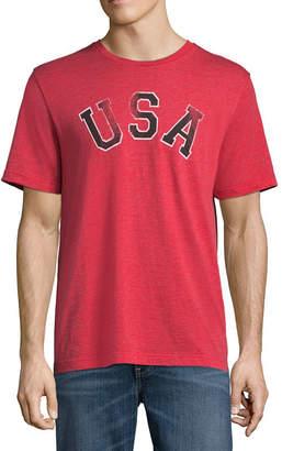 ST. JOHN'S BAY Short Sleeve Americana Graphic T-Shirt