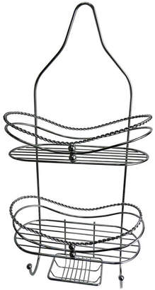 Elegant Home Fashions Curved Shower Caddy with Soap Tray Bedding