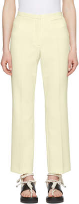 Carven Off-White Crepe Cropped Flared Trousers