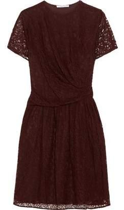 Carven Gathered Lace Dress