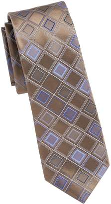 7ef3bb3c5a38 Kenneth Cole Reaction Diamond Print Silk Tie