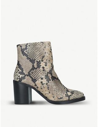 Steve Madden Tenley snakeskin-embossed leather ankle boots