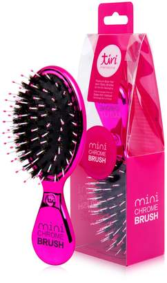 Glamorous Tiri Professional Chrome Boar Bristle No-Frizz Paddle Brush - Pink