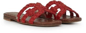 d43089d6c Red Woven Leather Women s Sandals - ShopStyle