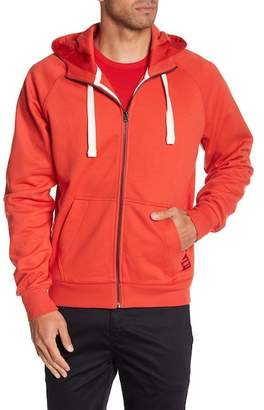 G Star Manes Raglan Hooded Zip Up Sweatshirt