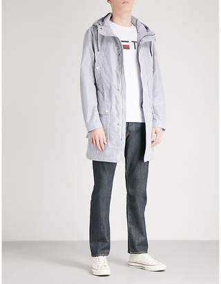 Tommy Hilfiger Striped shell hooded parka coat