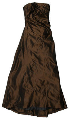 Vera Wang Bronze Strapless Gown $100 thestylecure.com