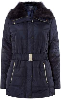 Dorothy Perkins Womens **Tall Navy Luxe Padded Coat