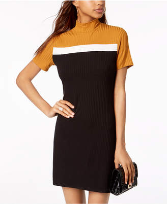 One Clothing Juniors' Mock-Neck Colorblocked Dress
