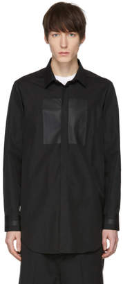Neil Barrett Black Painted Graphic Shirt