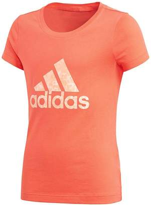 adidas Girls Performance Logo Tee