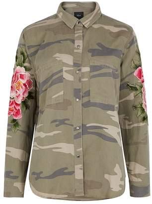 Rails Marcel Embroidered Camouflage Jacket