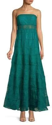 Jump Jade Illusion Lace Gown