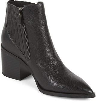 Kenneth Cole Reaction Cue Up Leather Gore Point Toe Booties