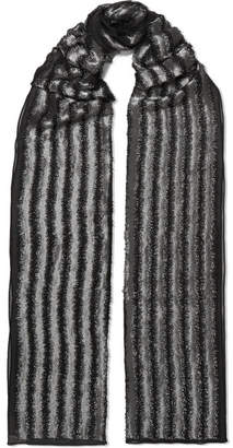 Metallic Fringed Crochet-knit Scarf - Bronze Chlo KD1fAw4
