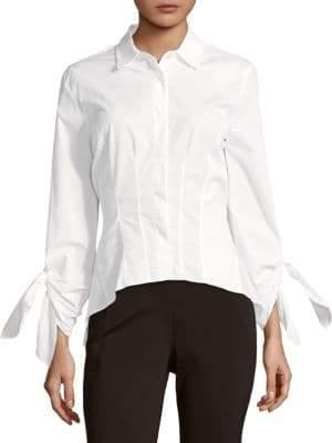 Donna Karan Tie Cuffs Blouse