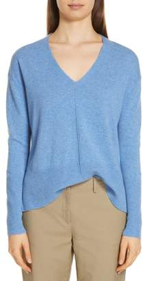Nordstrom Signature V-Neck High/Low Cashmere Sweater