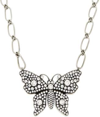 Gucci Butterfly crystal-embellished necklace