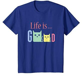 Life Is Really Good Cats T-Shirt