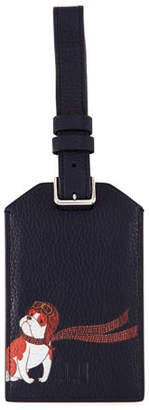 Dunhill Boston Bulldog Leather Luggage Tag