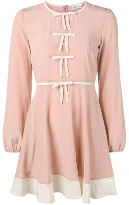 RED Valentino bow front mini dress