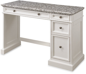 Bed Bath & Beyond Home Styles Traditions White Utility Desk w/Salt & Pepper Granite Top