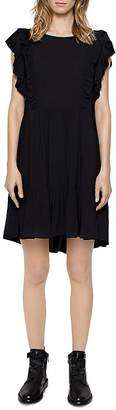 Zadig & Voltaire Rousseau Ruffled Dress $348 thestylecure.com