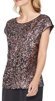 Vince Camuto Gilded Rose Sequined Blouse