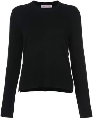 Organic by John Patrick Cropped crew neck sweater