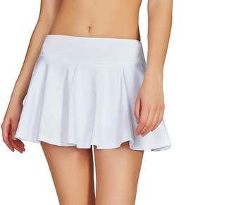 Cityoung Women's Sports Skirt Running Lightweight Skorts Casual Gym Tennis Skort with Built-in ShortsL